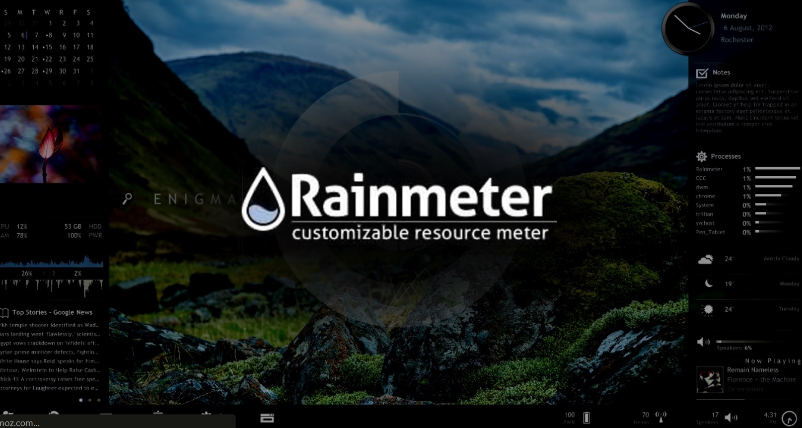 Image result for what is rainmeter